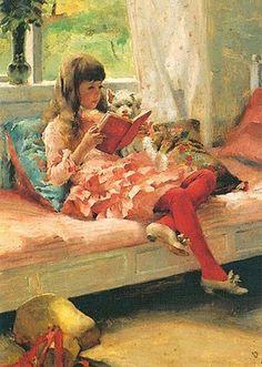 Albert Edelfelt (Finnish artist, 1854-1905) Good Friends (Berta and Capi), 1882