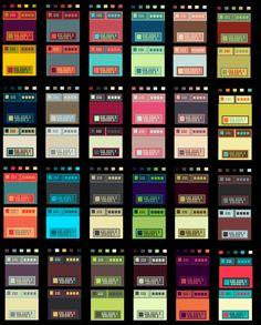 RPG Menu & Dialog Palette Art, Colour Pallette, Piskel Art, Color Palette Challenge, 8bit Art, Color Palette Generator, Pixel Art Games, Color Studies, Art Reference Poses