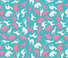 Animal Crackers fabric by heidikenney on Spoonflower - custom fabric