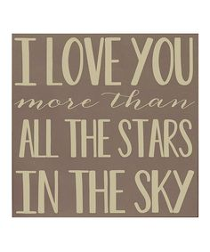 Take a look at this Vinyl Crafts Sparrow & Cream 'More Than All the Stars' Wall Art on zulily today!