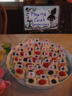 Azar Alice in Wonderland Mad Hatter Tea Party Food