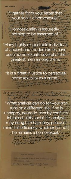 Sigmund Freud's Letter Regarding Homosexuality