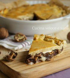 Torta Salata al Radicchio, Noci, Stracchino e Speck