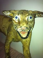 Taxidermy Mountain Cat Or Wild Animal Very Bad Glass Eyes