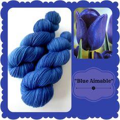 Blue Aimable - Dutch Flowers | Red Riding Hood Yarns On October 3rd, Red Riding Hood, Teal, Blue, Yarns, Holland, Dutch, Initials, Flowers