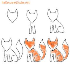 fox drawing how-to
