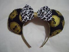 C3PO Mickey Mouse ears by Glitteratheart on Etsy