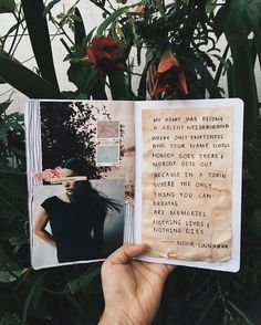 — a silent neighborhood // poetry + art journal by noor unnahar  // craft diy journaling ideas inspiration artsy poetic mixed media scrapbooking notebook stationery, tumblr indie hipsters aesthetics pale grunge, instagram creative photography floral dark handwritten poem women writers of color pakistani artist //