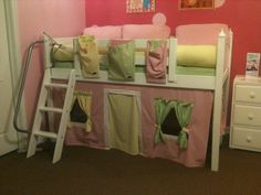 Princess home - bunk bed. Ikea? Make this into something for Colton, but have reading on top and sleeping on bottom