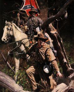 """Kershaw's Brigade"" cortesía de Don Prechtel. http://www.elgrancapitan.org/foro/viewtopic.php?f=21&t=11680&p=901559#p901368"