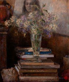 Studio still-life, Oil on canvas by Jonny Andvik