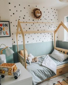 Im on a roll with the room reveals after what feels like ages (but was probably about a week Im very impatient) Ive finally finished Baby Bedroom, Baby Room Decor, Nursery Room, Big Girl Rooms, Baby Boy Rooms, Ideas Dormitorios, Toddler Rooms, Boy Toddler Bedroom, Toddler Boy Room Ideas