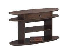 Metropolian Contemporary Dark Cherry Birch Wood Sofa/Console Table
