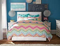 Find cute and cool girls bedroom ideas at Pottery Barn Teen. Shop your dream room with our teen room inspiration and ideas. Teen Girl Bedding, Teen Girl Rooms, Teenage Girl Bedrooms, Teen Bedroom, Dream Bedroom, White Bedroom, Awesome Bedrooms, Cool Rooms, My New Room