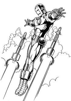 Coloring Page Iron Man   Iron Man
