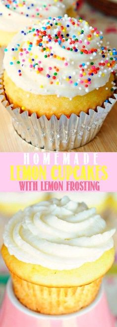 Homemade Lemon Cupcakes with Lemon Frosting - Better than a box mix!!