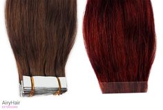 This is my personal fave...real Remy human hair, and the best type of extensions for fine or thinning hair.
