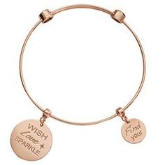 Buy Wish Love Sparkle Rose Gold Bangle from Nikki Lissoni at Fabulous Collections the leading on-line retailer of contemporary designer jewellery Love Sparkle, Girls Best Friend, Handcrafted Jewelry, Diamond Rings, Fashion Jewelry, Jewelry Design, Bangles, Rose Gold, Jewels