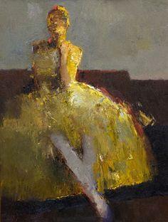 "Danny McCaw, ""Ballerina,"" oil, 24 x 18 in."