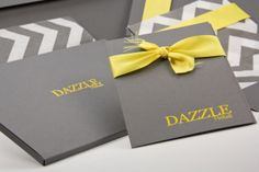 LOVE! The Slate Photo Cases by Tyndell Photographic look stunning paired with foil imprinting and satin ribbon in yellow, and our chevron tissue paper. Create this look and SAVE! This month 8x10 Slate Photo Cases are 10% off. Visit: https://www.tyndellphotographic.com/discounts