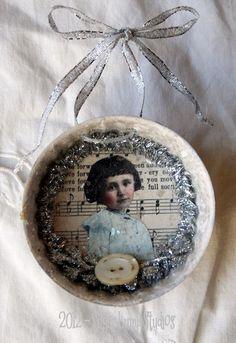 All Is Calm HANDMADE Vintage Mold Ornament. $9.95, via Etsy.