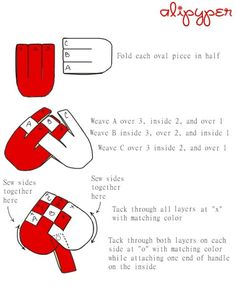 danish heart weaving instructions