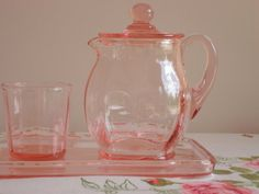 LOVE this vintage pink glass. The craftsmanship was so GOOD!