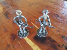 Metal Soldier-Welded Art-Scrap Metal-AR Force-Metal Art by MetalDisorder on Etsy Steel Rod, Steel Metal, Masonry Nails, Triple J, Navy Air Force, Railroad Spikes, Scrap Metal Art, Welding Art, Sculptures