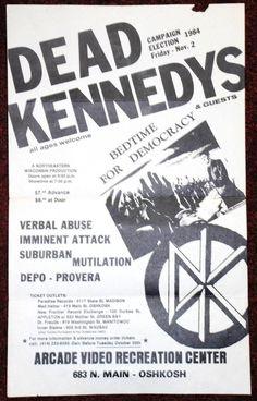 Dead Kennedys @ Wisconsin 1984 rare original flyer PUNK HARDCORE