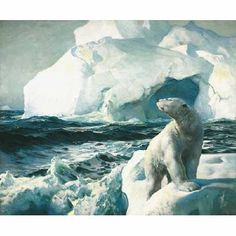 "Frederick Judd Waugh (American, 1861 - 1940) ""The Polar Bear"""