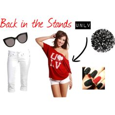 """""""Back in the Stands - UNLV"""" by gamedayfashion on Polyvore"""