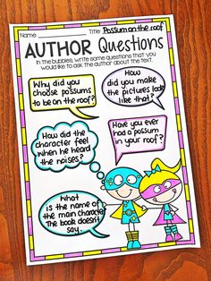 Reading Response Worksheet. Questioning the Author. Worksheets cover story elements, text connections, reading strategies, comprehension, author study, fiction and non-fiction texts and vocabulary work.