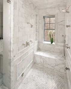 30 Elegance White Marble Bathroom Design Ideas