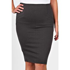 Plus Size Straight Line Mid Skirt Zipper closure in the back. Available In gray and black! Comment with your size when ready to purchase  Skirts Pencil