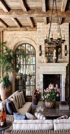 Exceptional French Country Decor are readily available on our website. Check it . - Exceptional French Country Decor are readily available on our website. Check it out and you wont be - Rustic Living Room, Rustic House, French Country House, House Design, Outdoor Room Decor, Spanish Style Homes, Beautiful Homes, Mediterranean Home Decor, Country Living Room