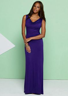 "Kate Drape Front Knit Maxi Dress - Plus Size Dresses - Alloy Plus - Alloy Apparel 27.00-30.00""3x""..."