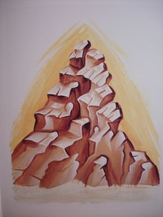 Mountains. Stage 2. Byzantine Icons, Byzantine Art, Religious Images, Art Icon, Painting Process, Orthodox Icons, Sacred Art, Art Reference, Style Icons