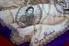 "Jacqmar ""Queens of England"" silk scarf"