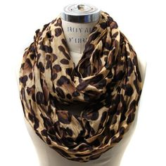 "Check out Rebecca Goertzen's ""Scarfand's Leopard Infinity Scarf $15.00 ---- I WANT!!"