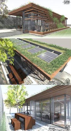 green design - Garage Design Contest by Maserati Architecture Design, Green Architecture, Sustainable Architecture, Sustainable Design, Landscape Architecture, Landscape Design, Pavilion Architecture, Architecture Definition, Sustainable Houses