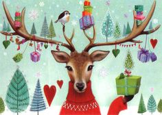 Christmas post card selection *3 pieces*, designed by Mila Marquis