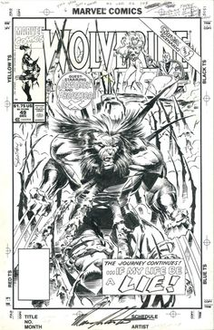 the cover to Wolverine #49 by Marc Silvestri