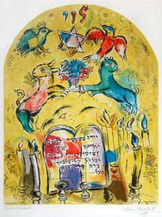 Marc Chagall 12 Tribes Windows | Signed Marc Chagall Lithograph, The Tribe of Levi, 1964