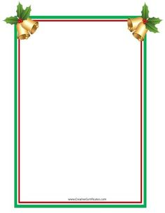 Clip art border with Christmas bells with holly on each of the top corners Christmas Boarders, Free Christmas Borders, Christmas Frames, Christmas Background, Christmas Bells, Christmas Cats, Christmas Signs, Christmas Angels, Christmas Wreaths