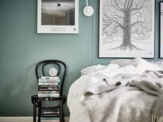 Grey green walls - via cocolapinedesign.com