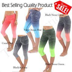 f333c39f78fb4 Women Athletic Workout Fitness Training Yoga Waistband Tights Capri Pants  #TD #PantsTightsLeggings Fitness Wear
