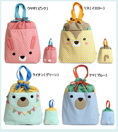 Rakuten: CSF kid's drawstring purse large size (frais mate/ フレメイト / sea D F / kids / bag / きんちゃく / gym suit case / bag /bisque/ bisque)- Shopping Japanese products from Japan