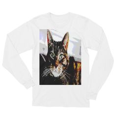 """Graphic Cat,"" Unisex Long Sleeve T-Shirt"