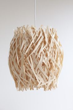 """Gorgeous """"seaweed"""" light from Sarah Foote  #sarahfoote #lampshade"""