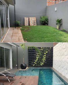 Small Backyard Pools, Small Pools, Backyard Patio Designs, Swimming Pools Backyard, Swimming Pool Designs, Backyard Ideas, Backyard Landscaping, Pool Garden, Lap Pools